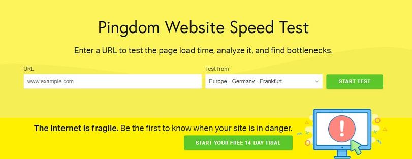 pingdom проверка скорости загрузки сайта