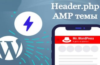 amp header для темы wordpress