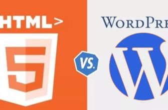 Html сайт в Wordpress