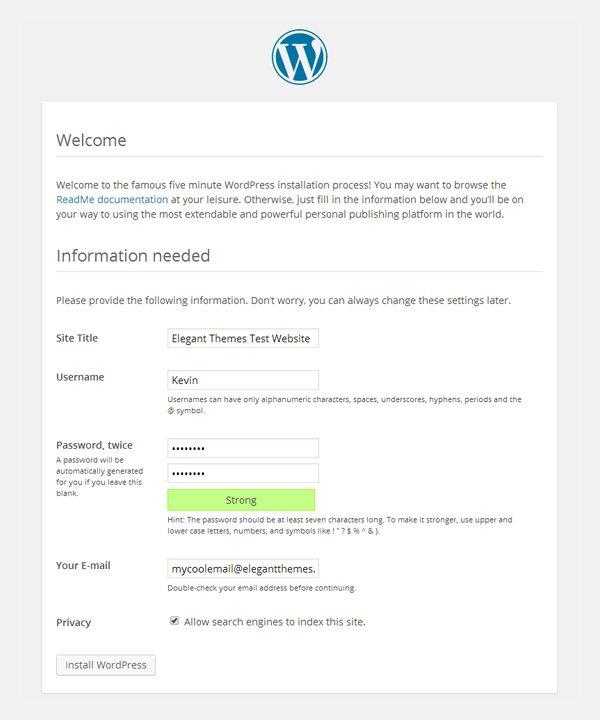 Установить WordPress на Windows